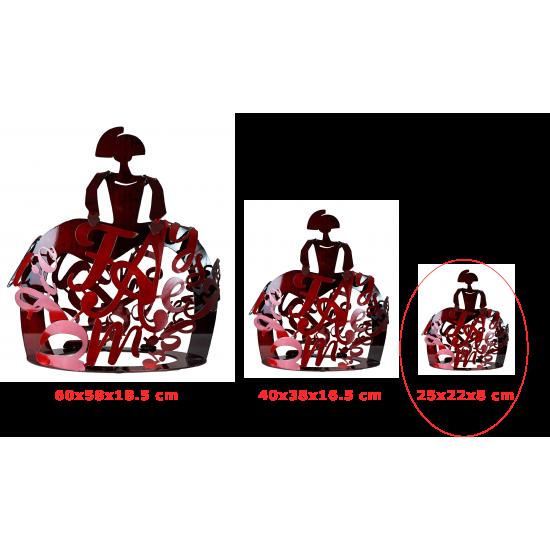 Contemporary sculpture Menina Forjasport Red color