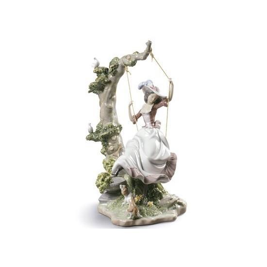 Figura de porcelana Lladró Columpiándose
