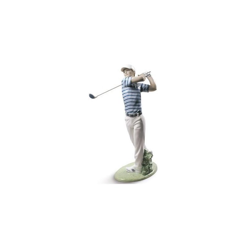 Figura de porcelana de Lladró Campeón de Golf