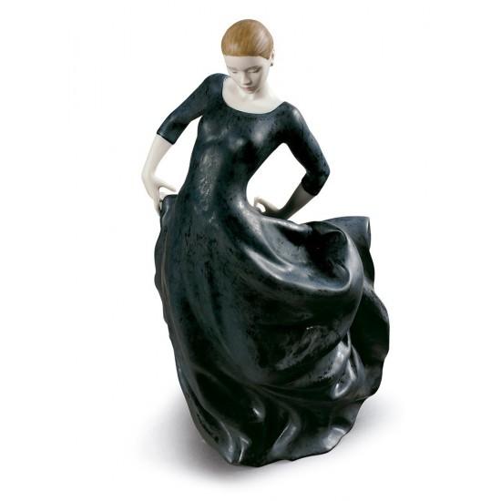 Figura de porcelana de Lladró Bulería (Negro)
