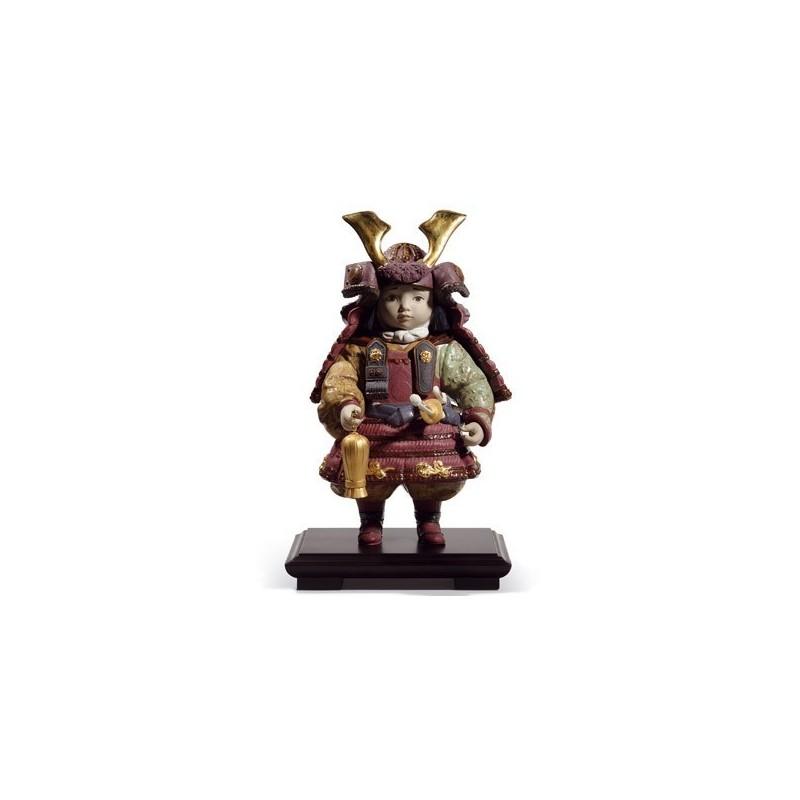 Figura de porcelana Lladró Niño Samurai