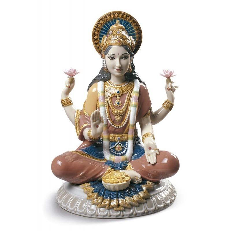 Figura de porcelana Lladró Diosa Lakshmi