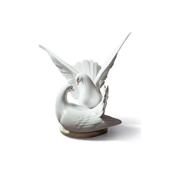 Figura de porcelana de Lladró Nido de Amor