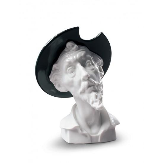 Don Quijote asombrado (blanco)