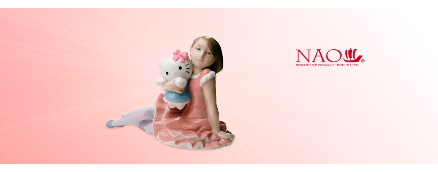 "Porcelain figures ""Childhood"" - NAO Porcelain - Artestilo"