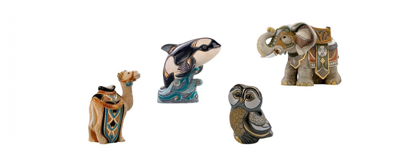 Figuras artesanales de animales - Decoración - Artestilo