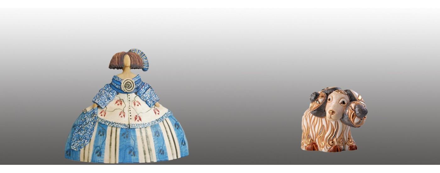 Figuras de cerámica hechas a mano - Decoración - Artestilo