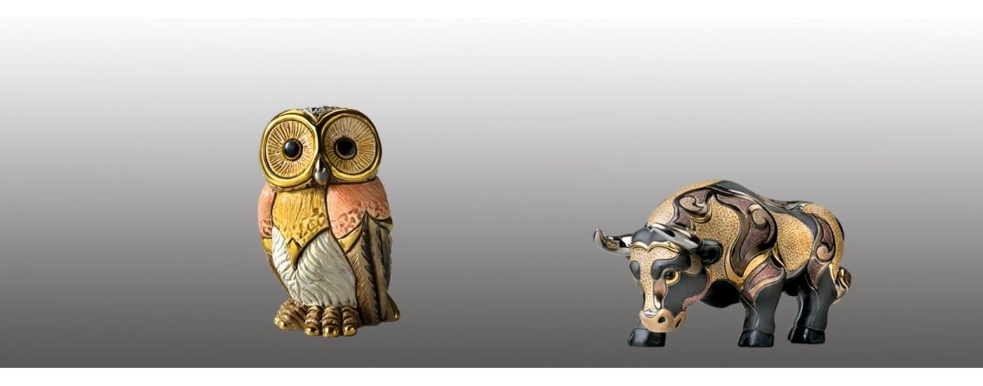 Ceramic figures of animals - Decoration - Artestilo