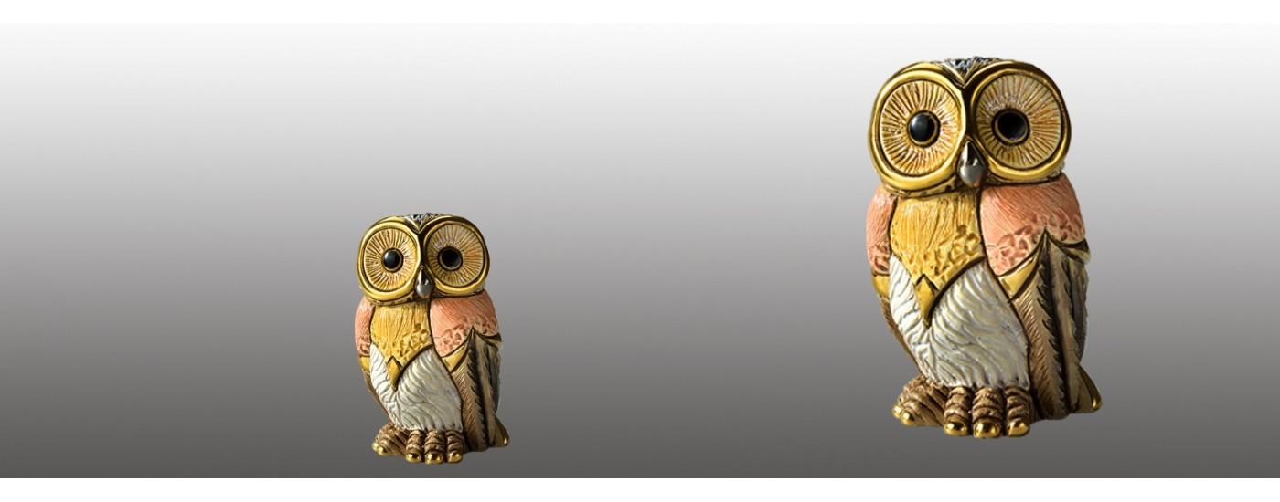 Figuras de aves de cerámica - Decoración - Artestilo