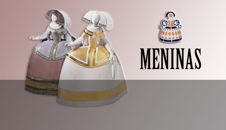 """Collection of """"Meninas"""" figures from our store."""
